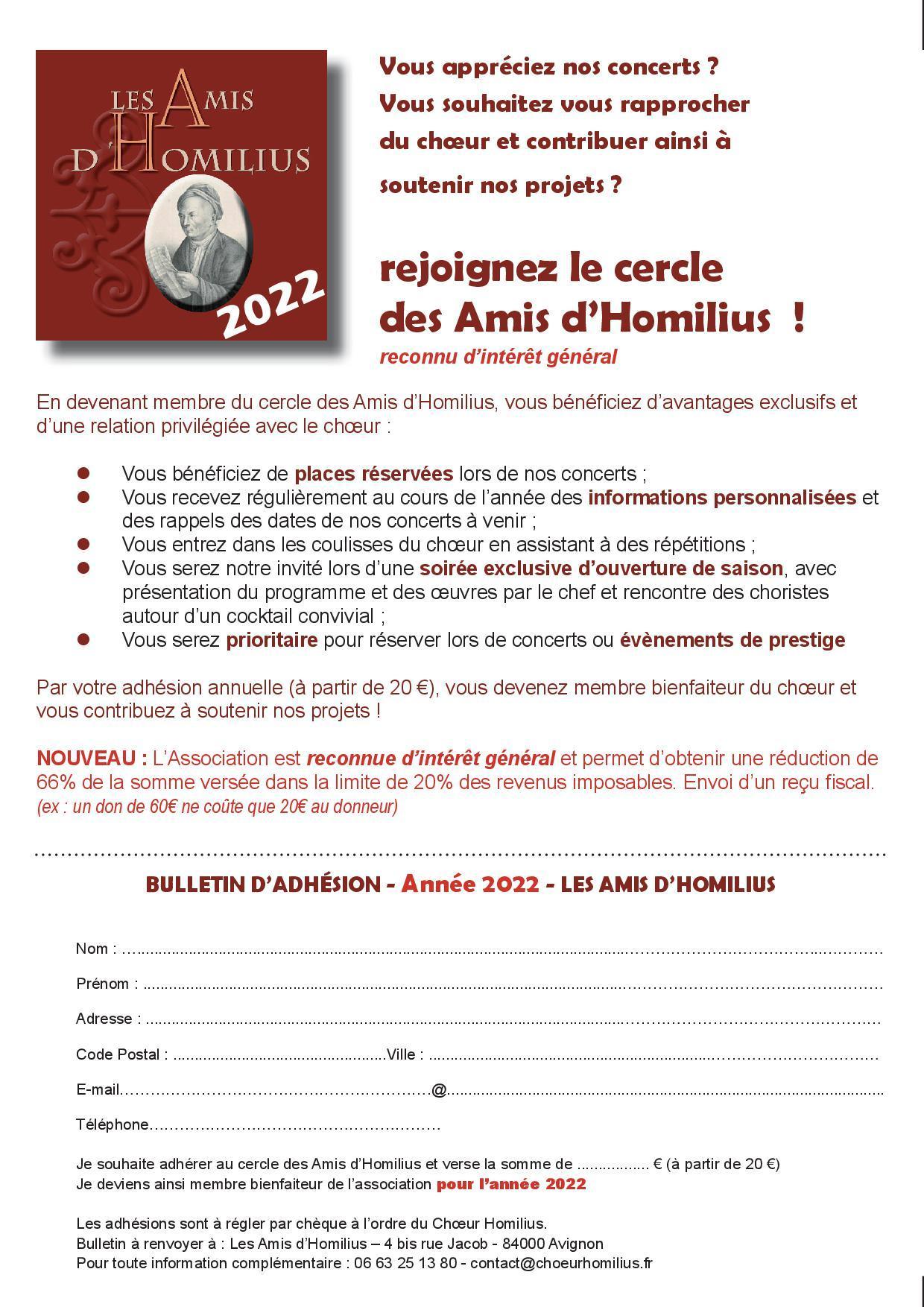 Bulletin d adhesion ah 2022