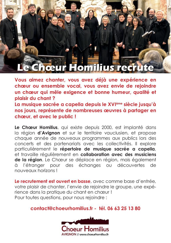Homilius recrutement 20190922